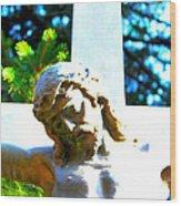 Christ In Spring Wood Print