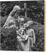 Christ With Children Wood Print