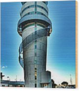 Christchurch Airport's Control Tower Wood Print