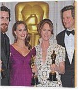 Christian Bale, Natalie Portman Wood Print