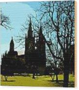 Christian Church Silhouette Wood Print