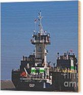 Christiana Oil Tanker Sitting In Galveston Tx Wood Print