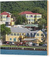 Christiansted Water Front Wood Print