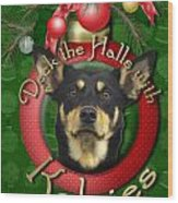 Christmas - Deck The Halls With Kelpies Wood Print