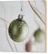 Christmas Baubles Wood Print