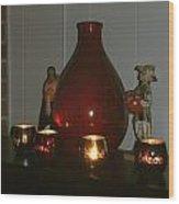 Christmas Candles Wood Print