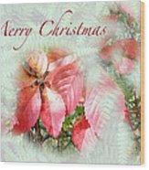 Christmas Card - Virginia Creeper In Autumn Colors Wood Print