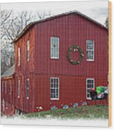 Christmas Eve At Williston Mill Wood Print