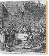 Christmas Feast, 1838 Wood Print