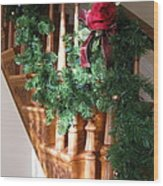 Christmas Garland Wood Print