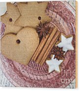 Christmas Gingerbread Wood Print