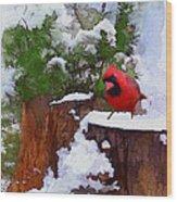 Christmas Guest Wood Print