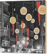 Christmas Lights In Alicante Wood Print