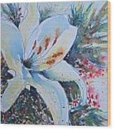 Christmas Lily Wood Print