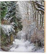 Christmas On The Chase Wood Print