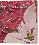 Christmas Poinsettias Wood Print
