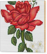 Christmas Rose 2011 Wood Print by Anne Norskog