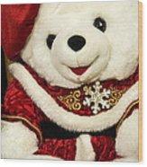 Christmas Teddy Bear Wood Print