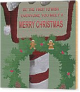 Christmas Traditions Cards 1 Wood Print