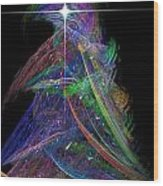 Christmas Tree 49b Star Wood Print