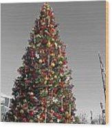 Christmas Tree At Pier 39 Wood Print