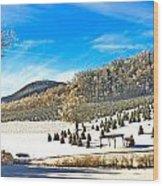 Christmas Tree Farm Wood Print