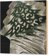 Christmas Tree Frozen In Time Wood Print