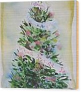 Christmas Tree Wood Print by Tilly Strauss