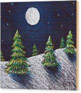 Christmas Trees II Wood Print