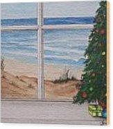 Christmas Window Wood Print