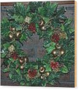 Christmas Wreath Wood Print
