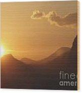 Christo At Sunset Wood Print