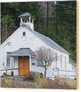 Christs Church At Elbe Washington Wood Print