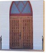 Christ's Red Door Wood Print