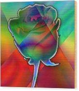 Chromatic Rose Wood Print