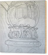 Chrome Ball at M.I.C.A. Wood Print