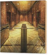 Chrysler Building Elevator Lobby Wood Print