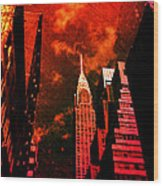Chrysler Building - New York City Surreal Wood Print