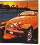 Chrysler Plymouth Prowler Rocky Sunset Wood Print