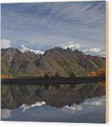 Chugach Fall Wood Print