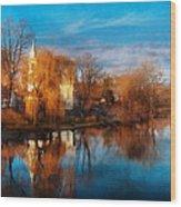 Church - Clinton Nj - Clinton United Methodist Church Wood Print