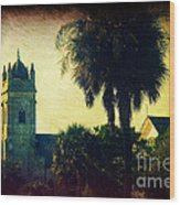 Church At Fort Moultrie Near Charleston Sc Wood Print