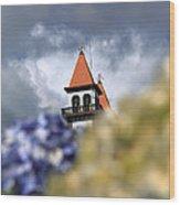 Church At Furnas Wood Print