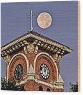 Church Bell Tower Wood Print