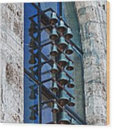 Church Bells Wood Print by Shirley Mitchell