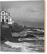 Church By The Sea Wood Print by Gaspar Avila