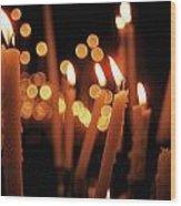Church Candles Wood Print