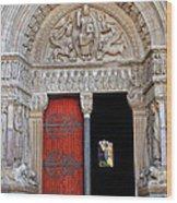 Church Entrance Arles France Wood Print