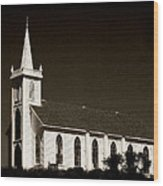 Church In Bodega Bay Wood Print