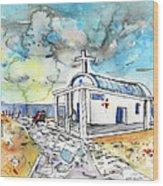 Church In Cape Gkreko In Cyprus Wood Print